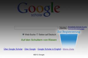 Registrierung bei Google Scholar