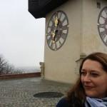 Der Uhrturm ist eines der Wahrzeichen von Graz