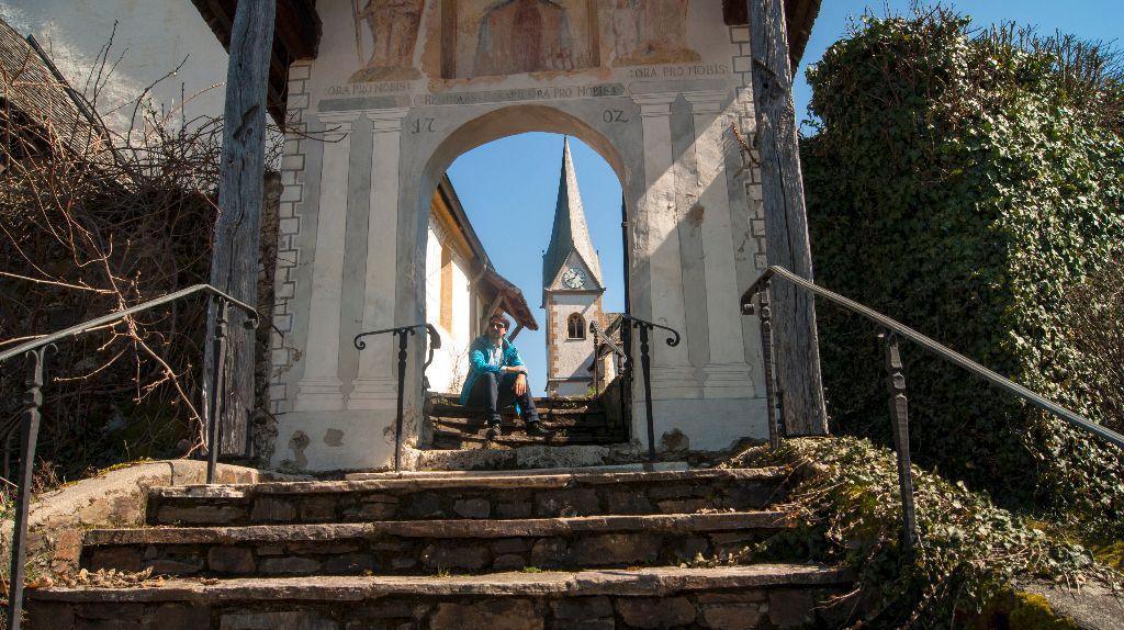 Auf dem Weg zur Kirche in Maria Wört